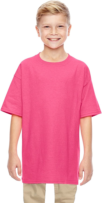 By Gildan Gildan Youth 53 Oz T-Shirt - Safety Pink - M - (Style # G500B - Original Label)