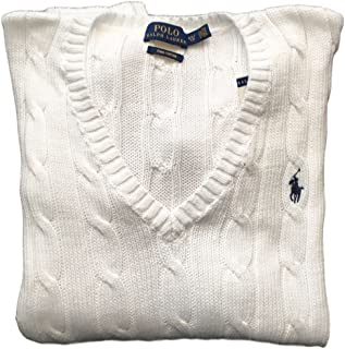ralph lauren v neck cable sweater