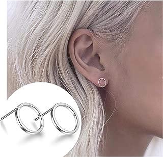open circle stud earrings jewelry