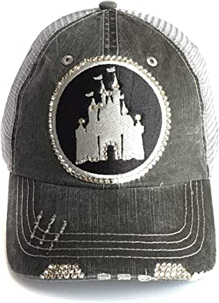 102278a412ffe Disney High Ponytail Hat Bedazzled Mesh Baseball Cap Swarovski Crystal Bling  Gray