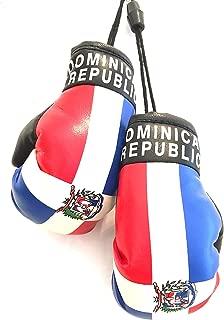 Dominican Republic, Santo Domingo flag, Boxing Gloves, Car,SUV, trucks, automobile window Dominican flag boxing Gloves