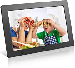 Digital Picture Frame 10.1 in, Digital Photo Frame Video Player with Motion Sensor Smart Electronics Picture Frame High Resolution 1024x768 IPS LCD/1080P 720P /Stereo/MP3/Calendar/Time/Remote Control