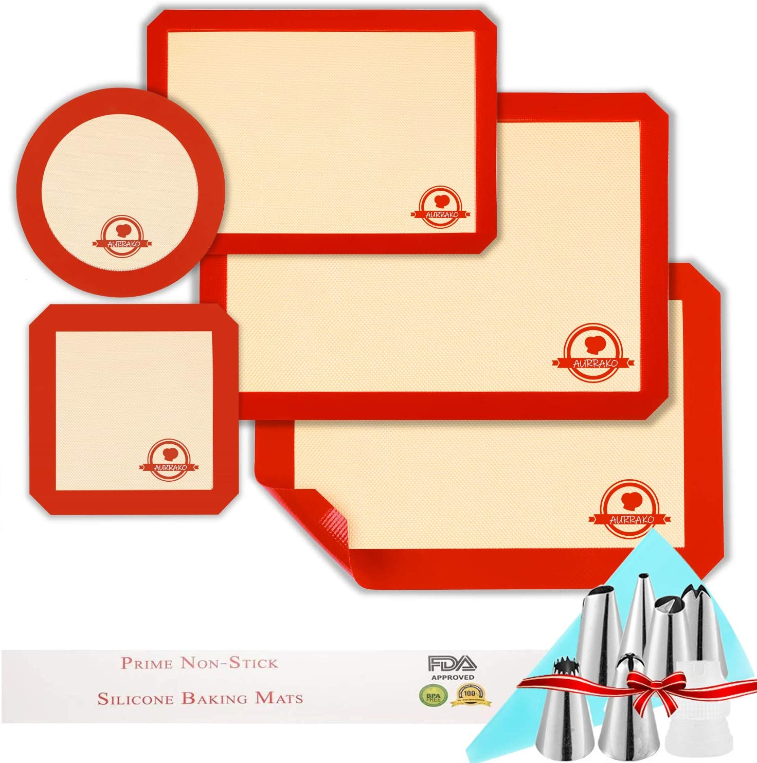 Detroit Mall Aurrako Ranking TOP2 Silicone Baking Mats for Cookie Pan Sheets 100%