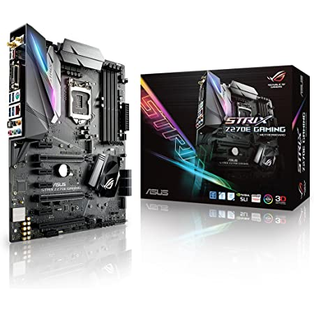 ASUS ROG STRIX Z270E GAMING LGA1151 DDR4 DP HDMI DVI M.2 ATX Motherboard with onboard AC Wifi and USB 3.1