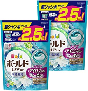 【まとめ買い】 ボールド 洗濯洗剤 ジェルボール3D 爽やかプレミアムクリーンの香り 詰め替え 超ジャンボ 44個入×2個