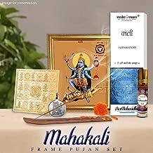 Vedic Vaani Goddess Mahakali Ambe Shakti Maa Mahavidya Yantra Photo Frame Pujan Sadhana Set for Puja Archana Vidhi for Home Pooja Temple|Ten (Dus) Mahavidyas-mahayantara|