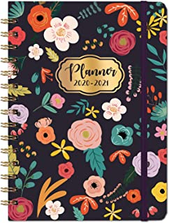"2020-2021 Planner - Academic 2020-2021 Planner with Weekly & Monthly Pages, Jul 2020-Jun 2021, 6.4"" x 8.5"", Hardcover, Strong Binding, Tabs, Inner Pocket, Elastic Closure, Perfect for School"