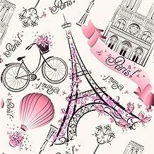 Papel De Parede Paris Rosa 300 x 59cm