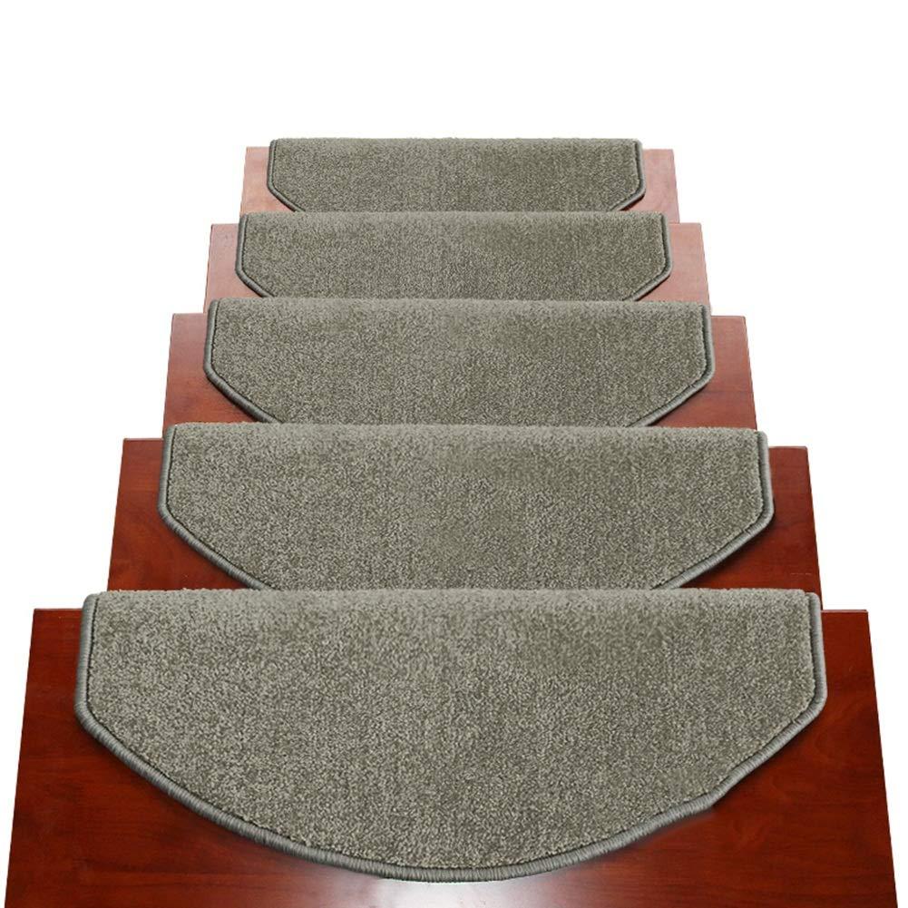 ZENGAI Alfombra de la Escalera Alfombrillas for peldaños de Escalera Protectores de escaleras Interiores Antideslizantes Escalones Modernos for escaleras de Piso Duro Arco 9 Colores, Conjunto de 13: Amazon.es: Hogar