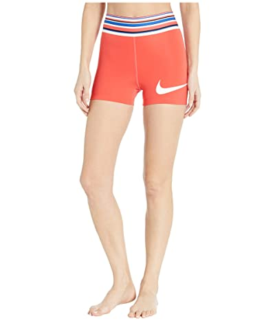 Nike Pro Shorts 3 Graphic (Track Red/White) Women