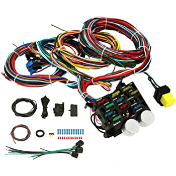 Amazon.com: BETTERCLOUD Universal 12 Circuit Wiring Harness Kit Compatible  with Ford Chevy Hot Rod Muscle Car Ford Truck Car Universal Wiring Harness:  AutomotiveAmazon.com