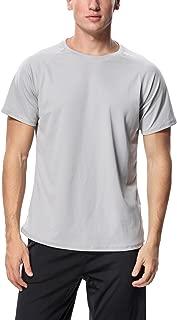 Men's Swim Shirt Rash Guard Short Sleeve Sun Protection SPF Shirt Loose Fit