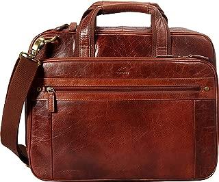Mancini Arizona Double Compartment Laptop/Tablet Briefcase
