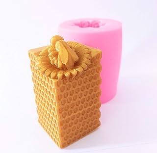 Silicone Mold Honeybee Wax Candle Mould beewax hex Design DIY Art idea