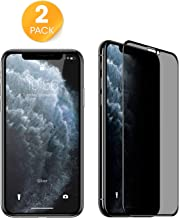 2Pack Compatible With IPhone 11 Pro Max Privacy Screen protector IPhone Xs Max 6.5 inch Anti-Spy 9H Hardness Tempered Glass Screen Film Cover for IPhone 11 Pro Max 2019 New Release