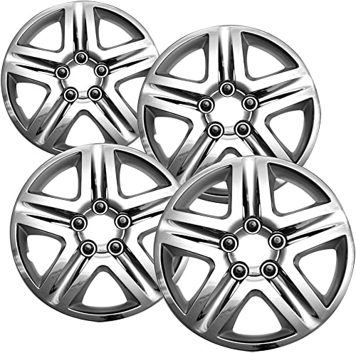 discount OxGord wholesale 16 inch Hubcaps Best for 06-13 Chevrolet Impala outlet sale - (Set of 4) Wheel Covers 16in Hub Caps Chrome Rim Cover - Car Accessories - Snap On Hubcap, Auto Tire Replacement Exterior Cap outlet sale