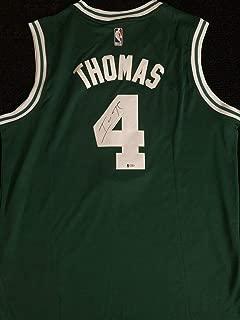 Isaiah Thomas Autograph Autographed Signed Memorabilia Boston Celtics Jersey Beckett Coa