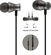 in-Ear Earbuds Earphones Headphones, Acode 3.5mm Metal Housing Magnetic Best Wired Bass Stereo Headset Built-in Mic/Hands-Free/Volume Control+Carrying