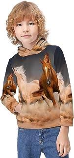 Kid's Novelty Sweater Lighthouse Bird Sea Landscape Pullover Hoody Sweatshirt Teen's Breathable Sports Hoodies-