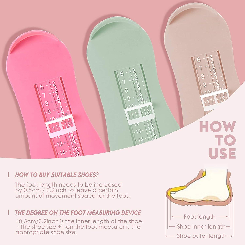 LQKYWNA Dispositivo Di Misurazione Del Piede Per Bambini Calcolatore Di Scarpe Per I Piedi Per Bambini Adulti Per Scegliere Le Scarpe Adatte