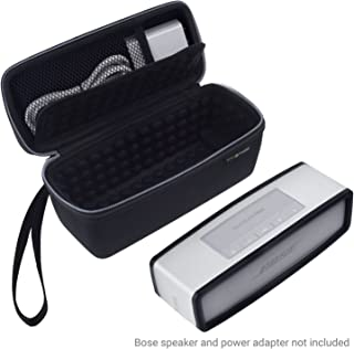 Eco-Fused Carry Case and TPU Cover compatible with Bose Soundlink Mini 1 and 2 to Protect and Transport - Bubble Padded Interior for Speaker and Dock - Mesh Pocket to store Power Adapter - Wrist Strap