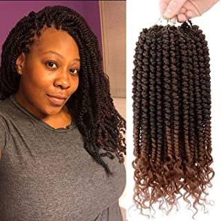 12 inch Spring Twist Hair Braiding 6 Pack Passion Twist Hair Senegalese Twist Curly Crochet Hair Extensions T30