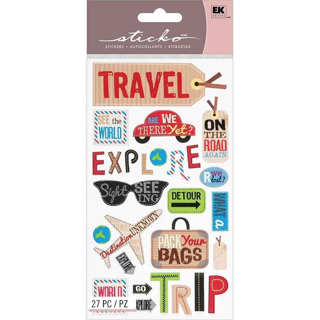 EK Success Brands Decorative Sticko Stickers, Happy Traveling bjx0825346