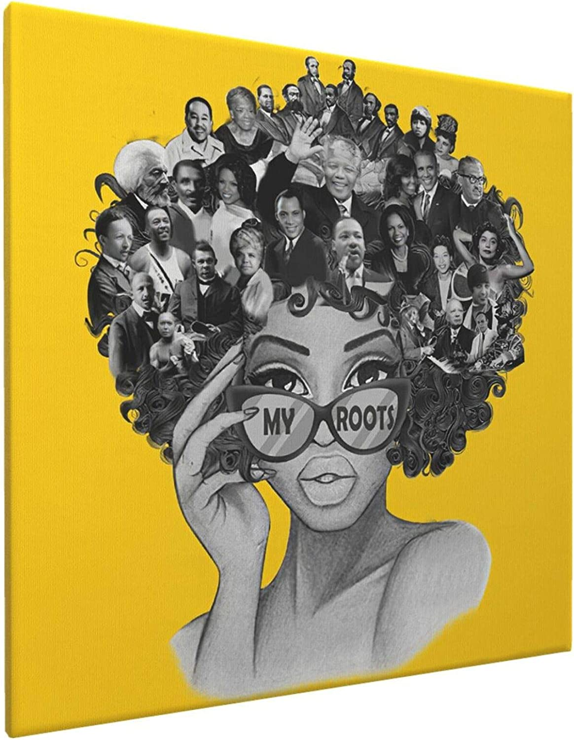 Max 56% OFF African American Wall Art Gold Famous Girl Black Head Free shipping / New People In