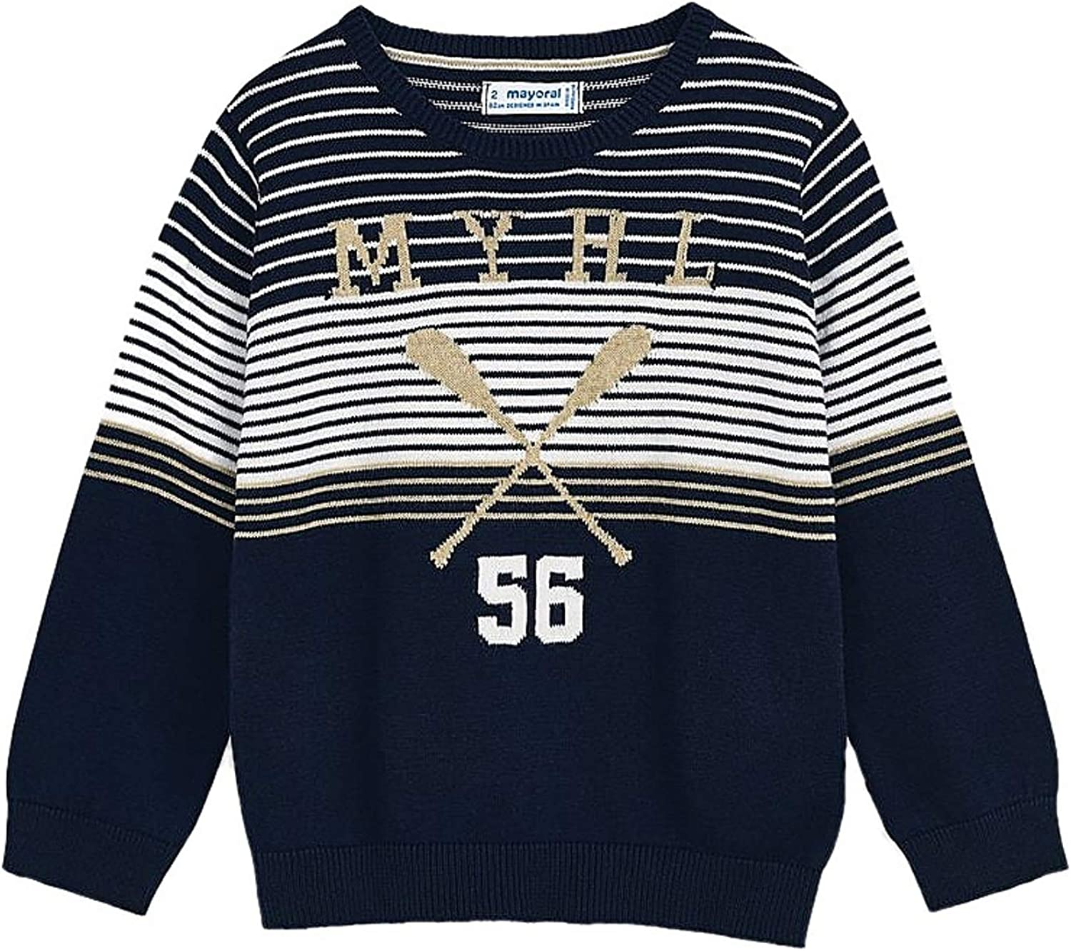 Mayoral - Intarsia Stripes Jersey 3318 Boys for Navy Selling rankings Choice