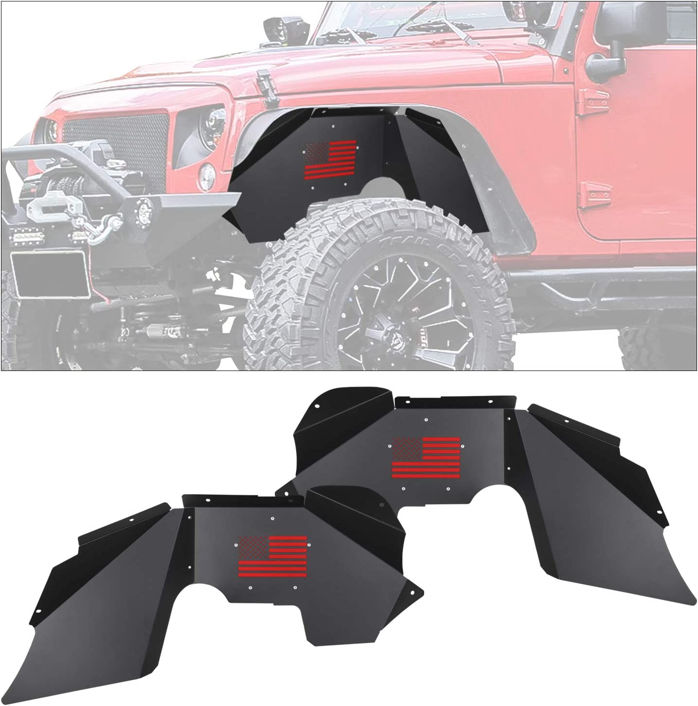 Aaiwa Front Inner Wholesale Fender Liners Compatible 2007-2018 Cheap Jeep W with