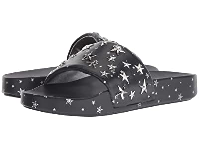 Tory Burch Star Slide (Perfect Navy/Silver) Women