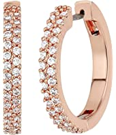 Kate Spade New York - Save The Date Pave Huggie Earrings
