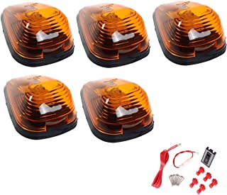 AEagle 5 Pcs Cab Marker 9 Amber LED Lights for 1999-2016 Ford F/E Series (Amber)