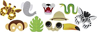 Creative Converting Photo Fun Jungle and Safari Party Props 10-Pieces, One size, Multicolour
