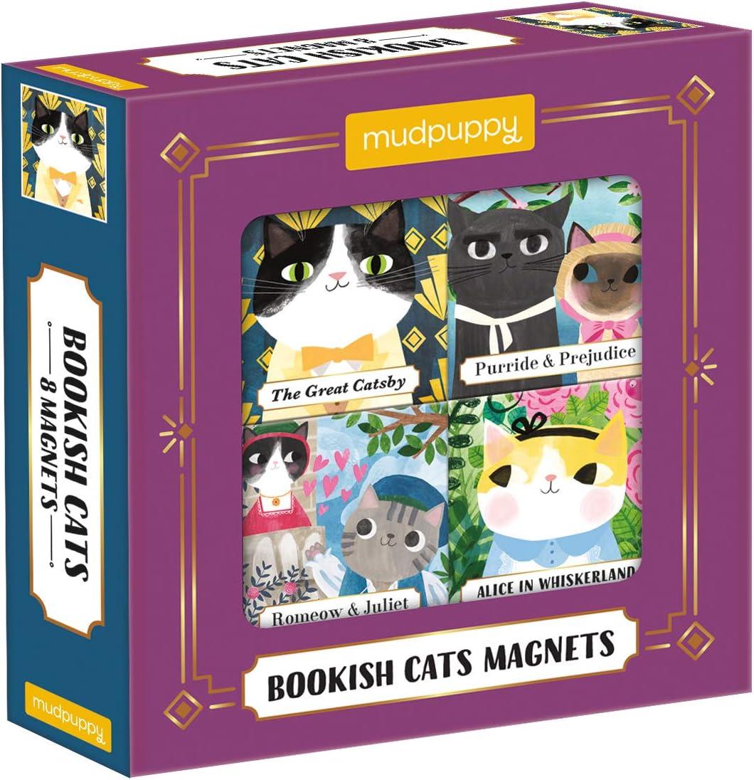 Artsy Cat Magnets set of 4