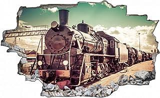 Dampflok Eisenbahn Wandtattoo Wandsticker Wandaufkleber R2125