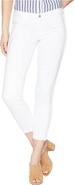 9326 Low Rise Crop Skinny in Braided Blanc