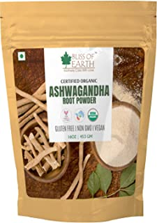 Bliss of Earth 453 GM USDA Organic Ashwagandha Root Powder For Height Growth & Stress Relief