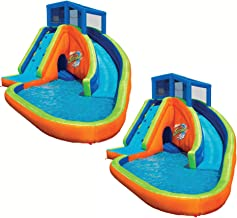 BANZAI Falls Inflatable Water Park Kiddie Pool with Slides & Cannons (2 Pack)