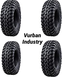 Bundle - Four Tusk TERRABITE Heavy Duty 8-Ply Radial DOT UTV/ATV Tires - TWO 27x9-14 & TWO 27x11-14