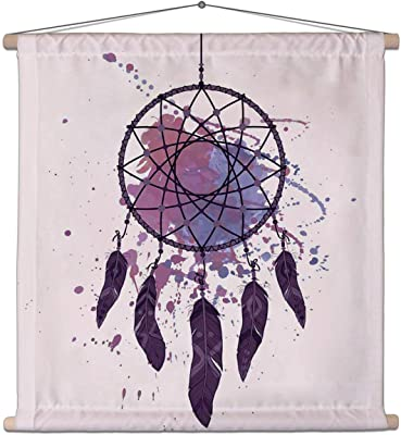 ArtzFolio Dream Catcher with Watercolor Splash Canvas Painting Tapestry Scroll Art Hanging 30 X 30Inch