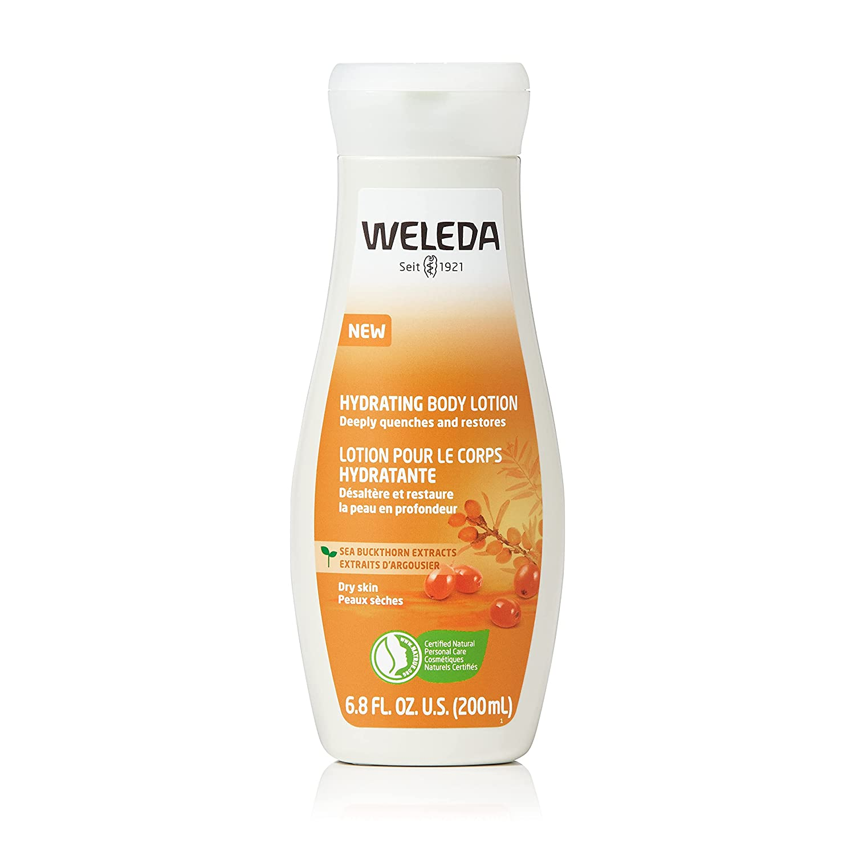 Welda Hydrating Sea Buckthorn Body Lotion, 6.8 Fluid Ounce, Plant Rich Moisturizer with Sea Buckthorn Oil, Mallow Extract and Argan Oil