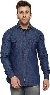 LEVIZO Men's Cotton Denim Full Sleeve Casual Shirt