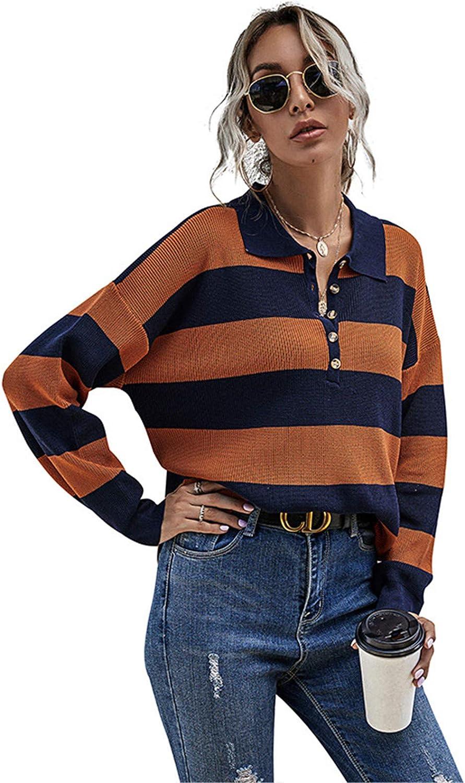 Jacksonville Mall EverNight Women's Jumpers Sweatshirts Buttons Lightweight Lapel High material