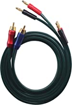 KK Cable C-JN OFC Speaker Wire Pair with RCA Male (Blue & Red) to 2 Pair Banana(4banana) Plugs, C-JN (1M(3.28ft))
