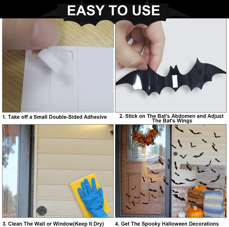 Buy 20pcs Halloween 20D Bat Wall Stickers   Halloween Decorations ...