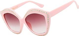 New Oversized Cat Eye Sunglasses Women Luxury Rhinestone Sun Glasses FemaleRed Shades