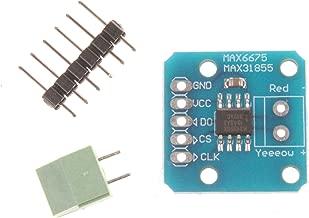 NOYITO MAX31855 K-Type Thermocouple Breakout Board Thermocouple Sensor Module Temperature -200°C to +1350°C SPI Interface Digital Direct Readability Temperature