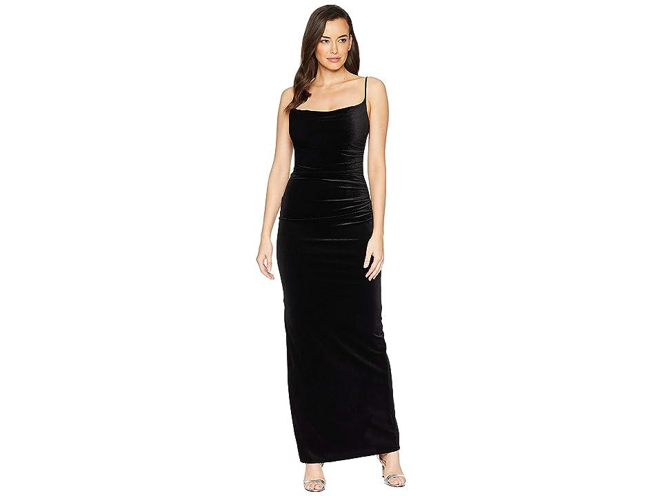 Laundry by Shelli Segal Velvet Long Slip Dress (Black) Women