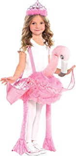 Flamingo Ride-On Costume for Children, Standard Size, Includes a Flamingo with Attached Shoulder Straps